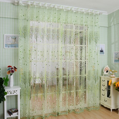 Transparent Green Shower Curtains