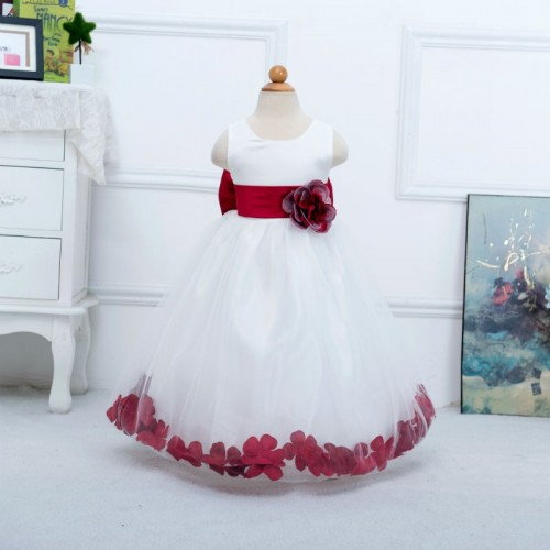 Floor Length Flower Girl Sweet Bow Dress