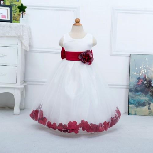 Floor Length Flower Girl Sweet Bow Dress