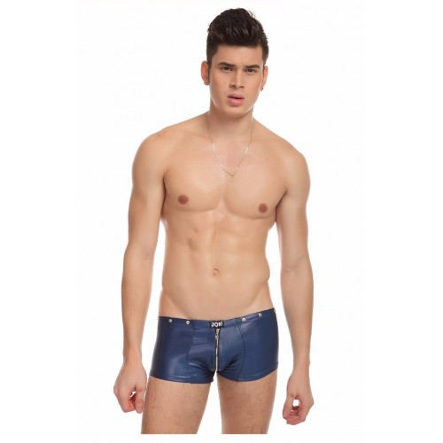 Leather Zipper Crotch Tight Mens Boxers