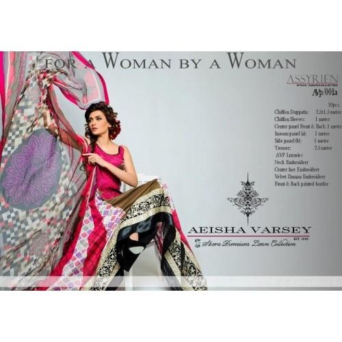Aeisha Varsey Embroidered Premium Lawn