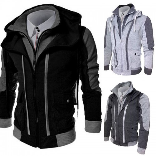 Stylish Men's Slim Collar Jacket