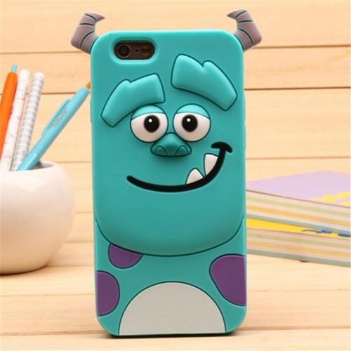 Monster Blue 3D Soft Silicone Phone Case Cover for iPhone
