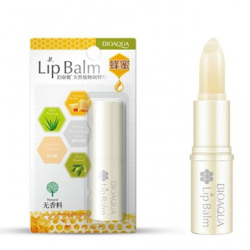 BIOAQUA Natural Aloe Honey Moisturizing Lip Balm Colorless
