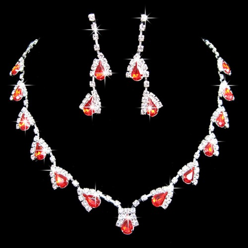 Elegant Bridal Crystal Jewelry Set