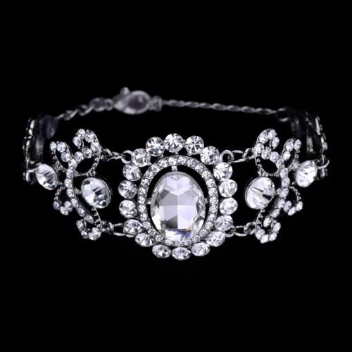 Silver Plated Crystal Bracelet