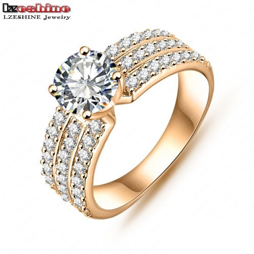 Trendy Zircon Gold and Silver Plated Ring