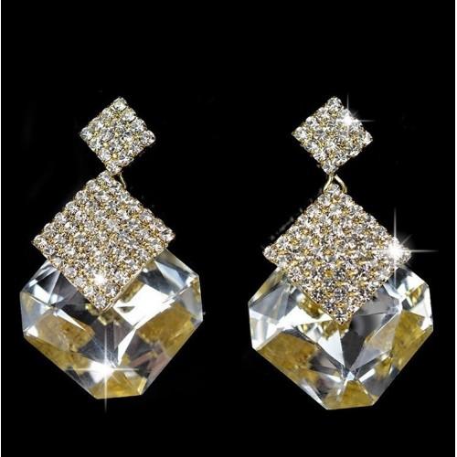 Crystal Luxury Stud Earrings White