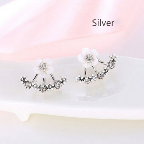 Fashion Jewelry Cute Cherry Blossoms Flower Stud Earrings for Women