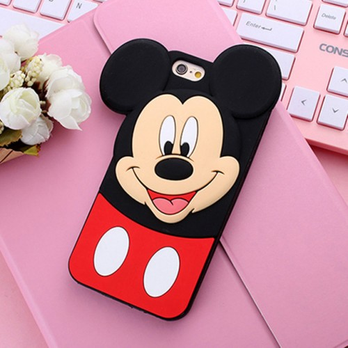 Mickey Mouse 3D Soft Silicone Phone Case Cover for iPhone