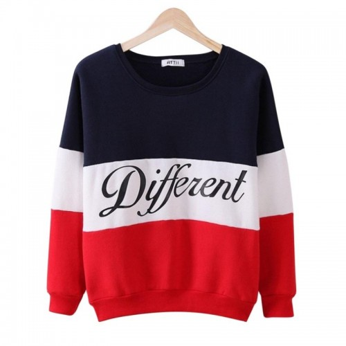 "Women Winter Hoodies With Letter Print ""Different"""