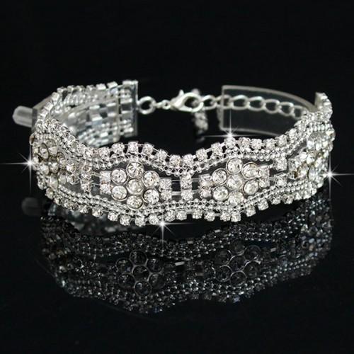 Crystal Wavy Style Bracelet for Women