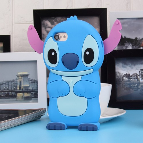 Vampire blue 3D Soft Silicone Phone Case Cover for iPhone