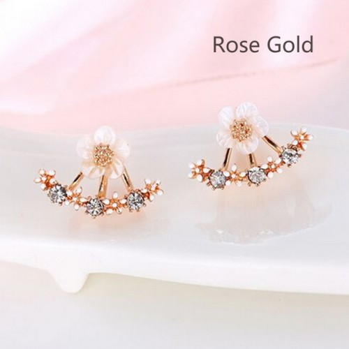 Fashion Jewelry Cute Cherry Blossoms Flower Stud Earrings for Women Several Peach Blossoms Earring
