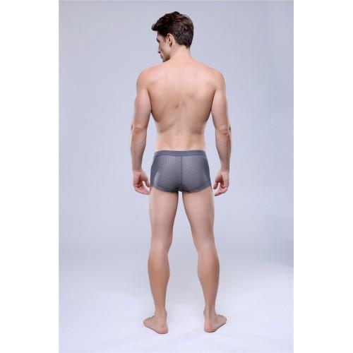 Mens see through boxer underwear Grey