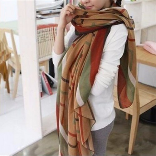 New Yellow Fashion Trendy Women Long Bohemian Print Wrap Shawl Scarf Ladies Big Girl Scarf Tole Styles