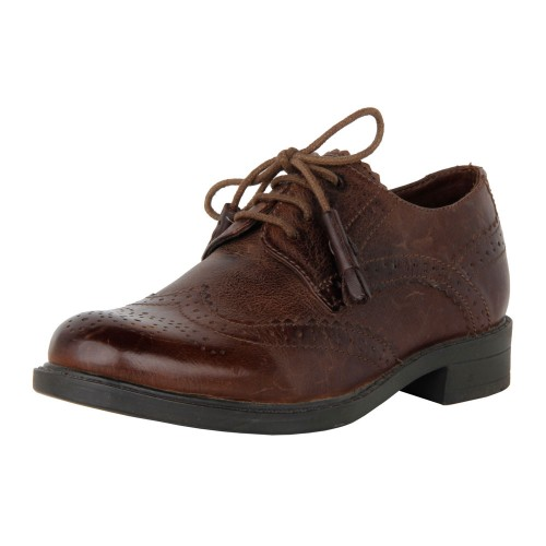 Castillo Genuine Leather Kids Brouge shoe - Brown