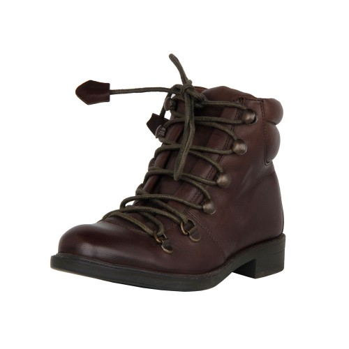 Castillo Genuine Leather Kids Boot Brown