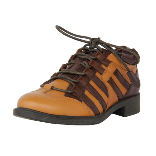 Castillo Genuine Leather Kids Casual Shoe - Tan