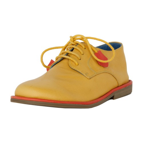 Castillo Genuine Leather Kids Casual Shoe - Yellow