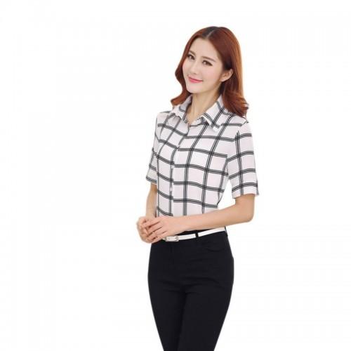 Innovative Blouses Ladies Office Shirts Women Office Uniform Ruffle Blouses