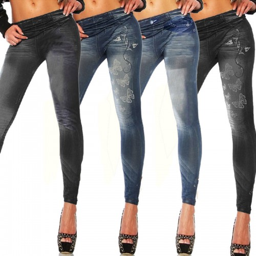 Pencil Pants High Waist Jeans Style Stretch Skinny Leggings