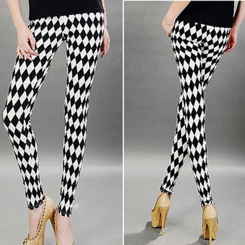 Slim Skinny Pencil Pants Striped Print Women Leggings