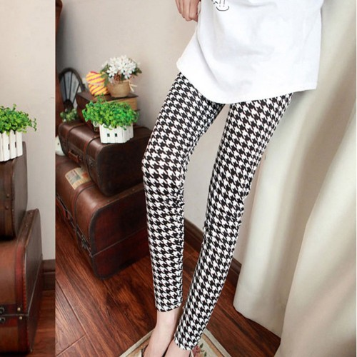 Women Slim Skinny Pencil Print Striped Leggings