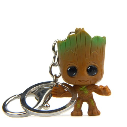 Galaxy Guard Groot Creative Key Chain Car Keychain Korean Version Package Pendant Key Ring for Women