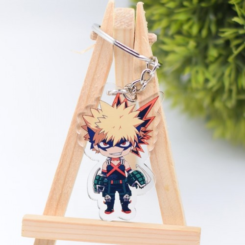 My Hero Academia Keychain Cute Double Sided Key Chain Pendant Acrylic Anime Cartoon