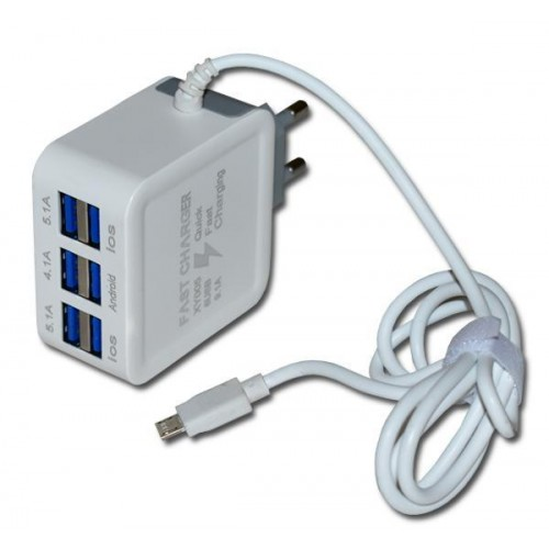 Fast Charger 6 USB Port 9.1 AMP Mobile Phone Travel Charger
