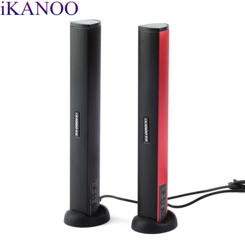 Original iKANOO USB Power Laptop Computer PC Notebook Audio Speaker Audio Stereo Amplifier Soundbar Earphone Jack