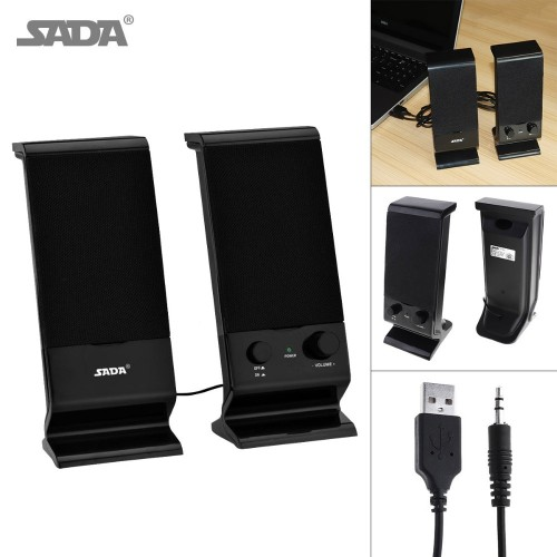 SADA Newest type Subwoofer PC Speaker Portable bass Music DJ USB soundbar TV Computer Speakers Loudspeaker