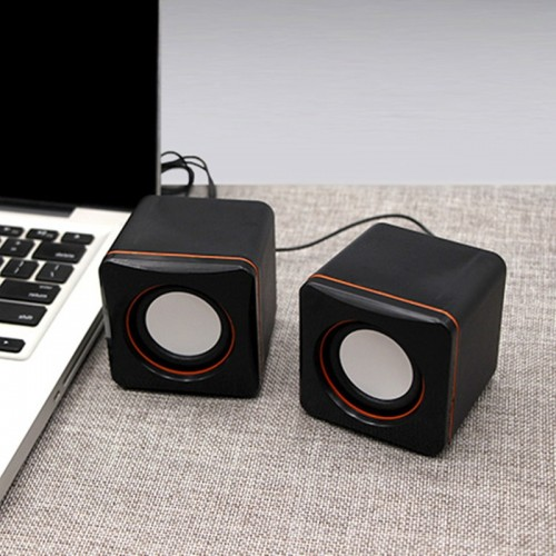 USB mini computer speaker Desktop notebook small speaker portable speaker cheap dual speakers with retail