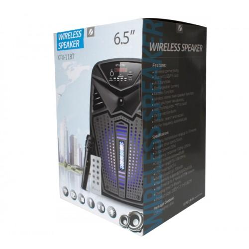 KTX-1187 6.5 inch Karaoke Portable Bluetooth Led Speaker USB-TF-FM With Microphone