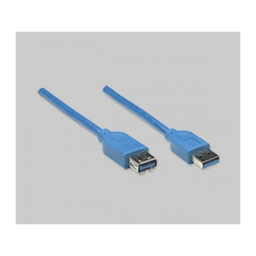 MANHATTAN USB 3.0 CBL AM-AF BLU 6.6FT/2M