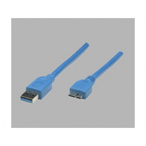 MANHATTAN USB 3.0 CBL AM-MICRO BM BLU 6.6FT/2M