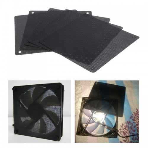 5Pc Computer Mesh PVC Case Fan Dust Filter Dustproof Cover Chassis Dust Cover