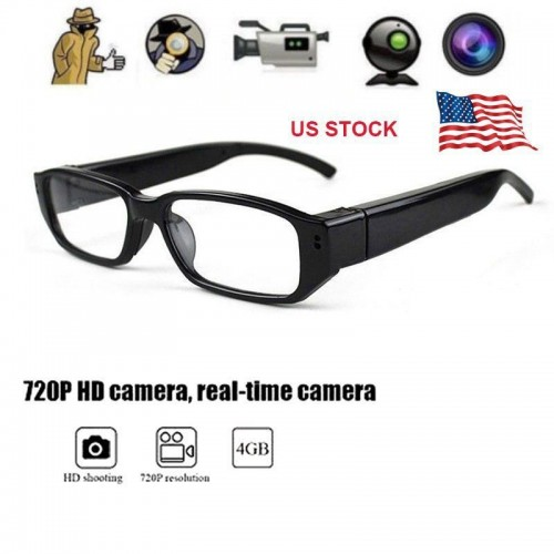 HD 720P Glasses SPY Hidden Camera Eyewear Security Cam Video Recorder Eye Glasses