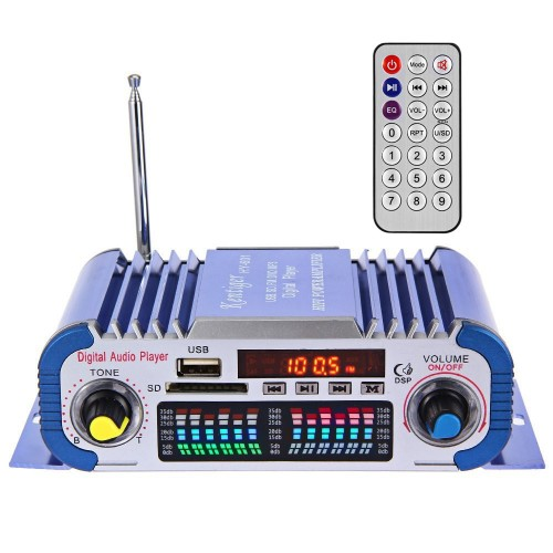 HY601 USB FM Audio 12V LED Stereo Car Amplifier Radio MP3 Speaker Sound Mode LED Audio