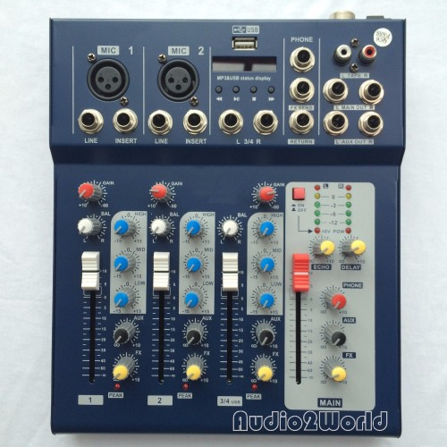 Mini Audio Mixer Small Mixing Console