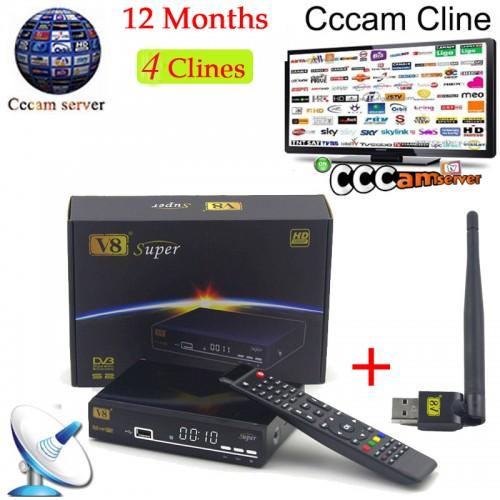 Cccam Europe Freesat V8 Super USB WiFi  Support PowerSatellite