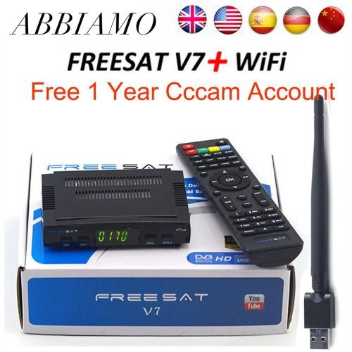 Freesat V7 HD DVB S2 satellite Receiver USB Wfi 1 Year