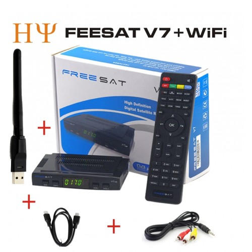 Genuine Freesat HD Satellite Receiver Full 1080P 1PC USB WiFi DVB HD Support