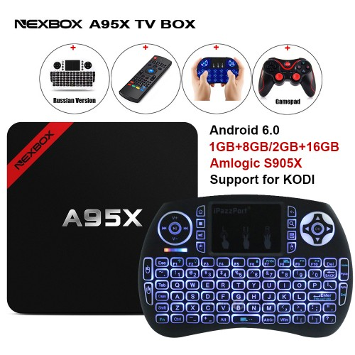 Max 2GB RAM 16GB ROM NEXBOX A95X Smart Android 6.0 TV Box Amlogic Quad