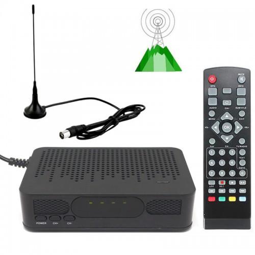 Mini Size HD TV Digital Terrestrial TV Tuner FTA RECEIVER CONVERTOR Antenna