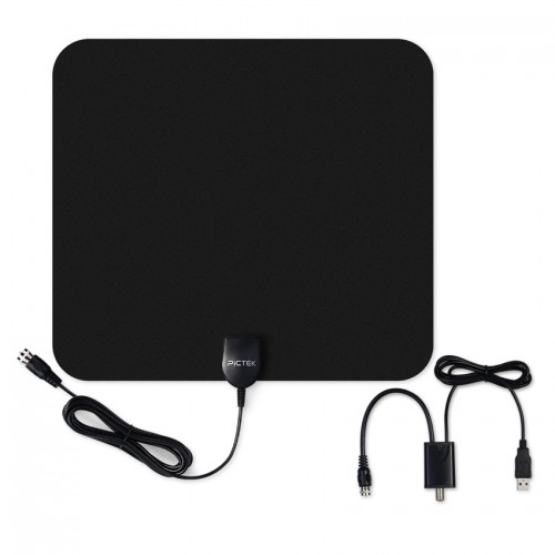 Pictek US EU Indoor Digital HD TV Antenna with Detachable Amplifier Signal Booster Optimized Butterfly