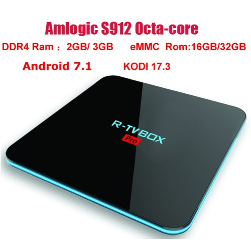 TV BOX PRO Amlogic Octa core 3G DDR4 Ram 32G Rom Android 7.1