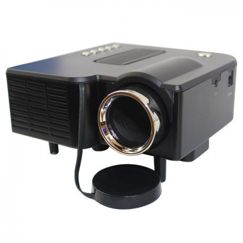 Black Projector Mini LED Digital Video Game Projectors Multimedia Player Inputs