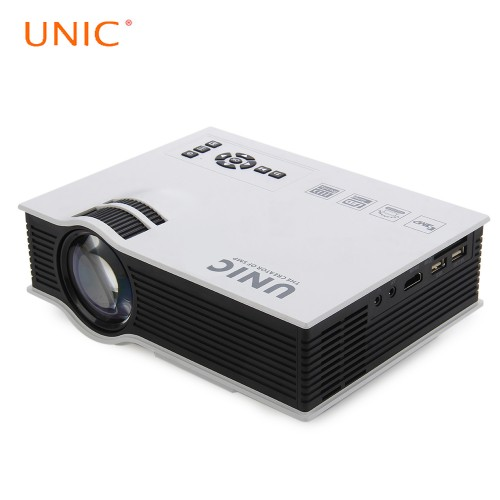 Original UNIC UC40 Mini Portable LED 3D Projector HDMI Home Theater Beamer Multimedia Proyector Full HD